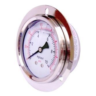 Stainless-Steel-Pressure-Gauge-Meter-Manometer-Back-connection-with-border-Flange-Glycerine-filled-YN-60ZT