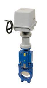 Robineti cutit bidirectional corp fonta cu actionare electrica REGADA